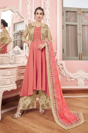Pink Muslin Salwar Kameez