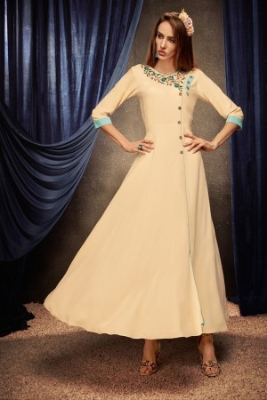 Cream Heavy Rayon Gown