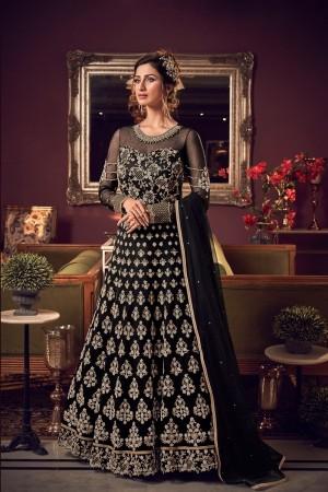 Black Premium Net Salwar Kameez