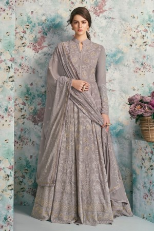 Light Purple Heavy Faux Georgette Salwar Kameez