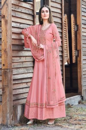 Pink Dola Silk Salwar Kameez