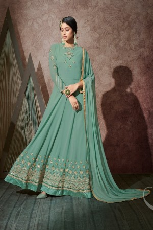 Light Green Georgette Salwar Kameez