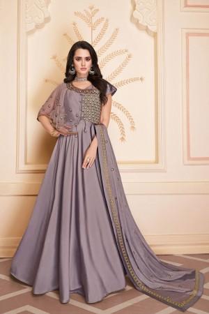Light Purple Heavy Soft Silk Salwar Kameez