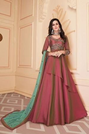Pink Heavy Soft Silk Salwar Kameez