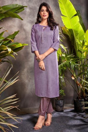 Purple Heavy South Cotton Top with Bottom