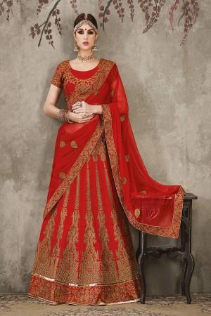 Maroon Pure Silk Designer Heavy Embroidery Work Lehenga Choli