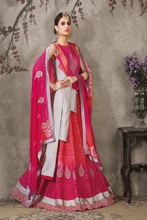 Rani Pure Silk Designer Heavy Embroidery Work Lehenga Choli