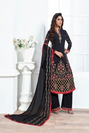 Black Georgette Embroidery Salwar kameez