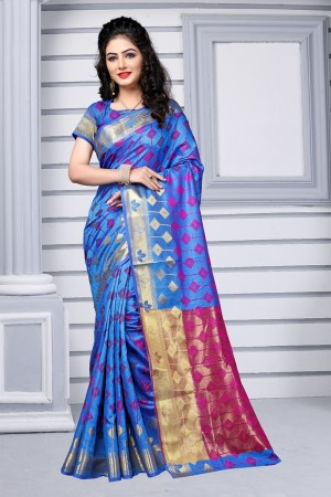 Royal Blue Silk Saree