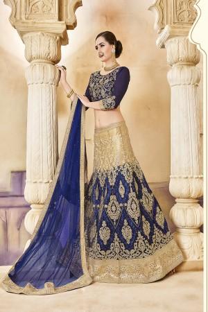Charismatic Dark Blue Banglori Silk Designer Heavy Embroidery and Hand Work Lehenga Choli