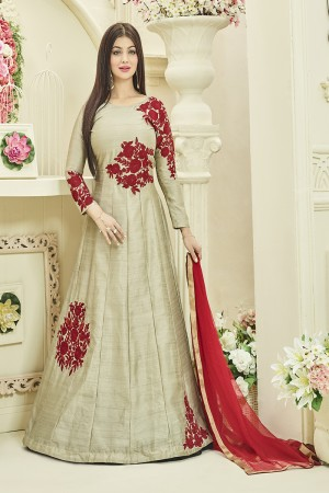 Ayesha Takia Green Banglori Silk Heavy Coading Embroidery Butta Work Salwar Kameez