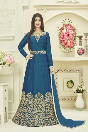 Ayesha Takia Bottle Green Two Tone Silk Heavy Embroidery Coading Work Salwar Kameez