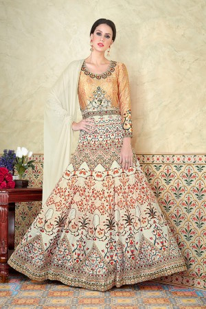 Definitive Multi Color Satin Digital Modal Print  Salwar Kameez