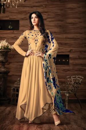 Sonal Chauhan Cream Georgette Heavy Embroidery Thread and Zari Work  Salwar Kameez