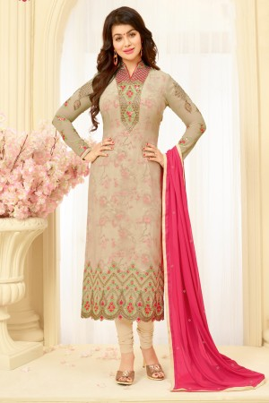 Ayesha Takia Chiku Georgette Heavy Embroidery on Neck and Sleeve Salwar Kameez