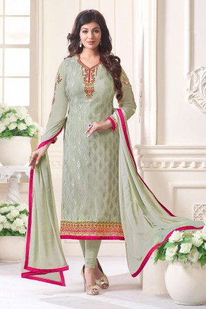 Ayesha Takia Pista Brasso Heavy Embroidery on Neck and Sleeve Salwar Kameez
