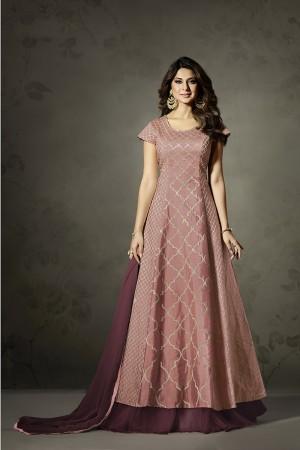 Jennifer Winget Lychee Silk& Net Heavy Embroidery Zari Work Salwar Kameez