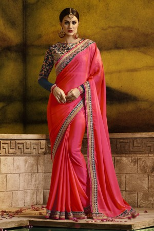 Captivating Red Silk Heavy Embroidery Badala Zari and Sequance Work  Saree