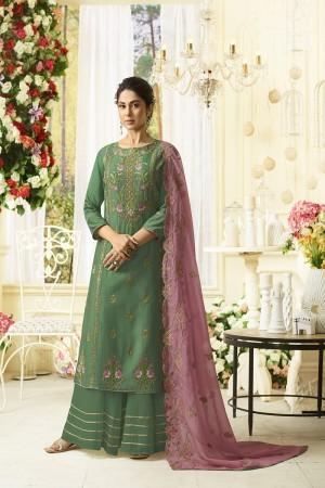 Jennifer Green Muslin Silk Salwar Kameez