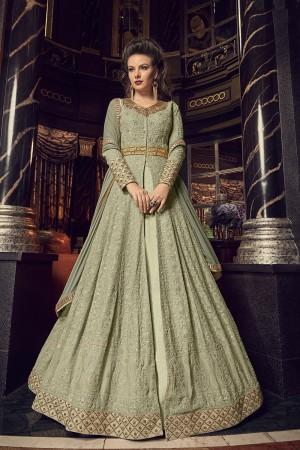 Pista Green Georgette Salwar Kameez