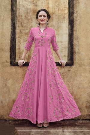 Pink Rayon Gown