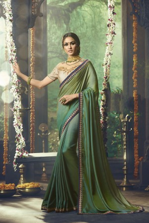 PeocockBlue Barfi Silk Saree with Blouse