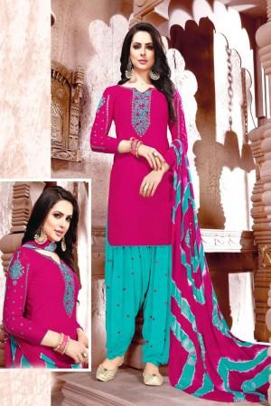 Pink Glaze Cotton Dress Material