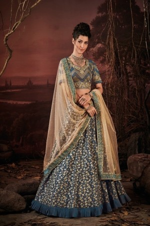 Ocean Blue Imported Lehenga Choli