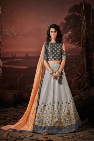 Grey Imported Lehenga Choli