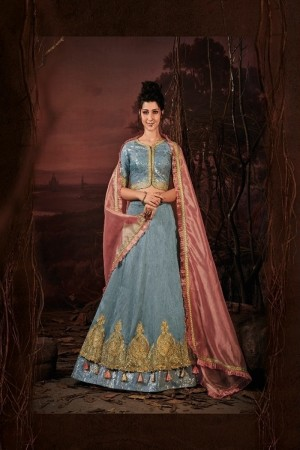 Teal Green Imported Lehenga Choli