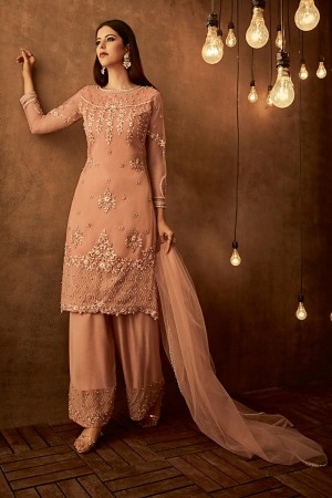 Golden Yellow Net Salwar Kameez
