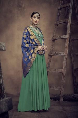 Green Muslin Salwar Kameez