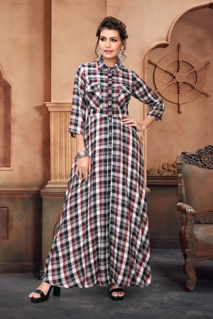 Multi Color Handloom Cotton Kurti