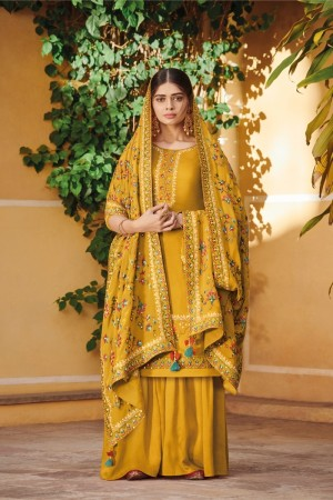 Mustard Ora Silk Salwar Kameez
