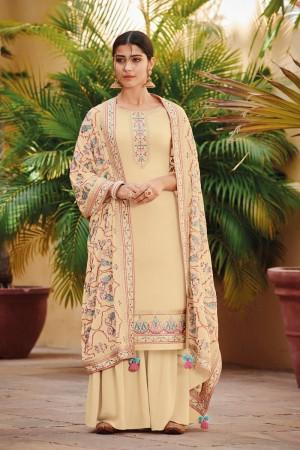 Cream Ora Silk Salwar Kameez