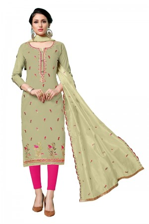 Mehendi Jam Cotton Dress Material