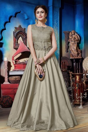 Silver Soft Silk Gown