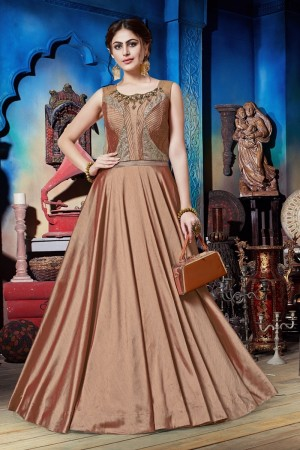 Coral Soft Silk Gown
