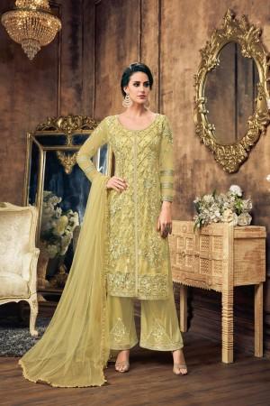 Lemon Net Salwar Kameez