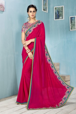 Gajari Chiffon Saree with Blouse