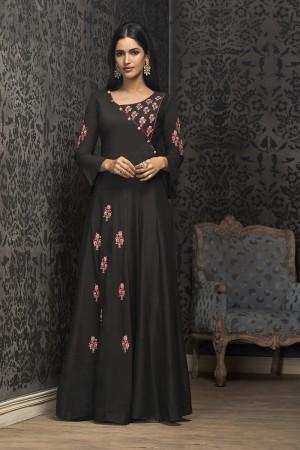 Black Musline Gown