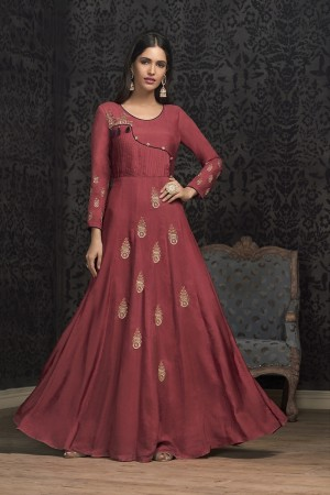 Apple Red Musline Gown