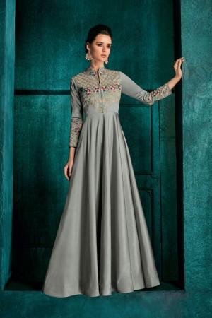 Silver Silk Gown