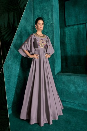 Purple Silk Gown