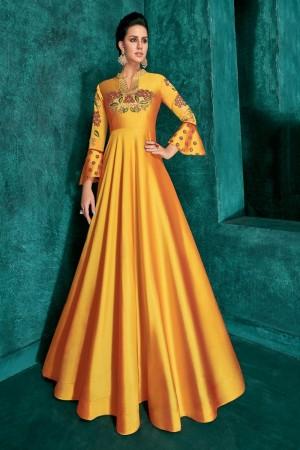 Mustard Silk Gown
