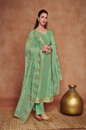 Pista Dola Silk Jacquard Salwar Kameez