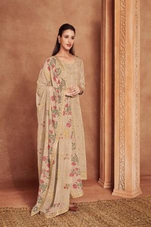 Ivory Dola Silk Jacquard Salwar Kameez