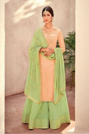 Fenta Silk Banarasi Butti Plazo Suit
