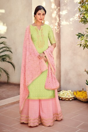 Liril Silk Banarasi Butti Plazo Suit