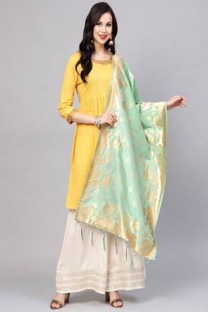 SeaGreen Banarasi Silk Dupatta